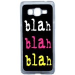 Coque Rigide Pour Samsung Galaxy Grand Prime Motif Bla Bla Couleur Flash