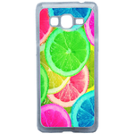 Coque Rigide Pour Samsung Galaxy Grand Prime Motif Citron Flash Coloré Été