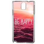 Coque Rigide Be Happy Love Samsung Galaxy Note 3