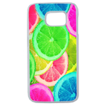 Coque Rigide Pour Samsung Galaxy S6 Edge Motif Citron Flash Coloré Été