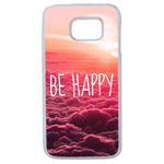 Coque Rigide Pour Samsung Galaxy S6 Edge Motif Be Happy Love