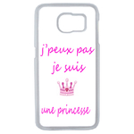 Coque Rigide Pour Samsung Galaxy S6 Motif J'peux Pas Je Suis Une Princesse