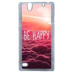 Coque Rigide Be Happy Love Pour Sony Xperia C4