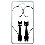 Coque Rigide Chat Duo Pour Microsoft Lumia 650