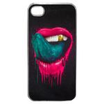 Coque Rigide Pour Apple Iphone 4 - 4s Motif Bouche Lèvre Trash
