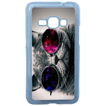 Coque Rigide Pour Samsung Galaxy J1 2016 Motif Chat Swag Humour