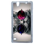 Coque Rigide Humour Chat Swag Pour Sony Xperia C4