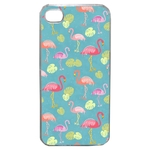 Coque Rigide Pour Apple Iphone 4 - 4s Motif Flamant Rose