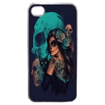 Coque Rigide Pour Apple Iphone 4 - 4s Motif Dia De Los Muertos