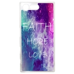 Coque Rigide Faith Hope Love Pour Sony Xperia X Compact