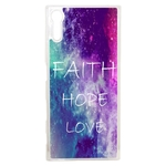 Coque Rigide Faith Hope Love Pour Sony Xperia Xz