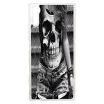 Coque Rigide Femme Tee-Shirt Tête De Mort Pour Sony Xperia Xz