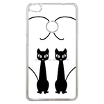 Coque Rigide Chat Duo Pour Huawei P8 Lite 2017
