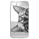 Coque Rigide Pour Apple Iphone 4 - 4s Motif Chat Gris Humour