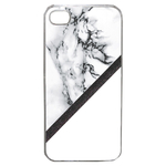 Coque Rigide Pour Apple Iphone 4 - 4s Motif Marbre Blanc Noir