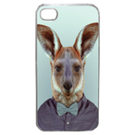 Coque Rigide Pour Apple Iphone 4 - 4s Motif Animal Hipster Kangourou