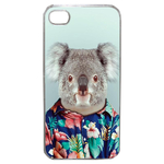 Coque Rigide Pour Apple Iphone 4 - 4s Motif Animal Hipster Koala