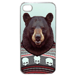 Coque Rigide Pour Apple Iphone 4 - 4s Motif Animal Hipster Ours