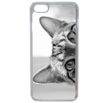 Coque Rigide Pour Apple Iphone 7 Motif Chat Gris Humour