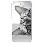 Coque Rigide Pour Apple Iphone 5 - 5s Motif Chat Gris Humour