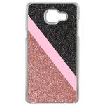 Coque Rigide Pour Samsung Galaxy A3 2017 Motif Graphique Paillettes Rose Et Noir