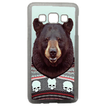 Coque Rigide Humour Animal Hipster Ours Pour Samsung Galaxy A3