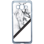 Coque Rigide Graphique Marbre Blanc Pour Samsung Galaxy Grand Prime