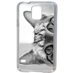 Coque Rigide Pour Samsung Galaxy S5 Mini Motif Chat Gris Humour