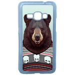 Coque Rigide Pour Samsung Galaxy J1 2016 Motif Animal Hipster Ours