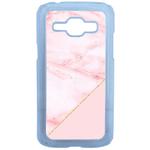 Coque Rigide Graphique Marbre Rose Pour Samsung Galaxy J1