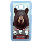 Coque Rigide Humour Animal Hipster Ours Pour Samsung Galaxy J5