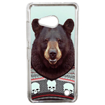 Coque Rigide Humour Animal Hipster Ours Pour Microsoft Lumia 550