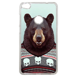 Coque Rigide Pour Huawei P8 Lite 2017 Motif Animal Hipster Ours