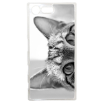 Coque Rigide Pour Sony Xperia X Compact Motif Chat Gris Humour
