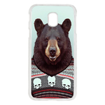 Coque Rigide Pour Samsung Galaxy J7 2017 Motif Animal Hipster Ours