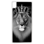 Coque Rigide Pour Apple Iphone Xr Motif Lion Roi Noir Blanc