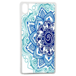 Coque Rigide Pour Apple Iphone Xs Motif Mandala Bleu