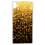 Coque Rigide Pour Apple Iphone Xr Motif Pluie D'or Gold