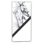 Coque Rigide Pour Apple Iphone Xr Motif Marbre Blanc Noir