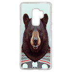 Coque Rigide Pour Samsung Galaxy S9 Plus Motif Animal Hipster Ours