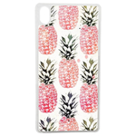 Coque Rigide Pour Apple Iphone Xs Max Motif Ananas Rose Vintage
