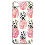 Coque Rigide Pour Apple Iphone 4 - 4s Motif Ananas Rose Vintage