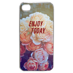 Coque Rigide Enjoy Fleur Vintage Pour Apple Iphone 4G