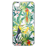 Coque Rigide Pour Apple Iphone 4 - 4s Motif Feuillage Tropical Toucan