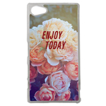 Coque Rigide Pour Sony Xperia Z5 Compact Motif Enjoy Fleur Vintage