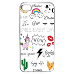 Coque Rigide Pour Apple Iphone 4 - 4s Motif Graphique Licorne Mix