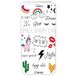 Coque Rigide Pour Apple Iphone 5 - 5s Motif Graphique Licorne Mix
