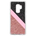 Coque Rigide Pour Samsung Galaxy A8 2018 Motif Graphique Paillettes Rose Et Noir