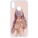 Coque Rigide Girl Tatoo Pour Huawei P20 Lite