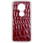 Coque Rigide Pour Motorola Moto G6 Play Motif Crocodile Rouge